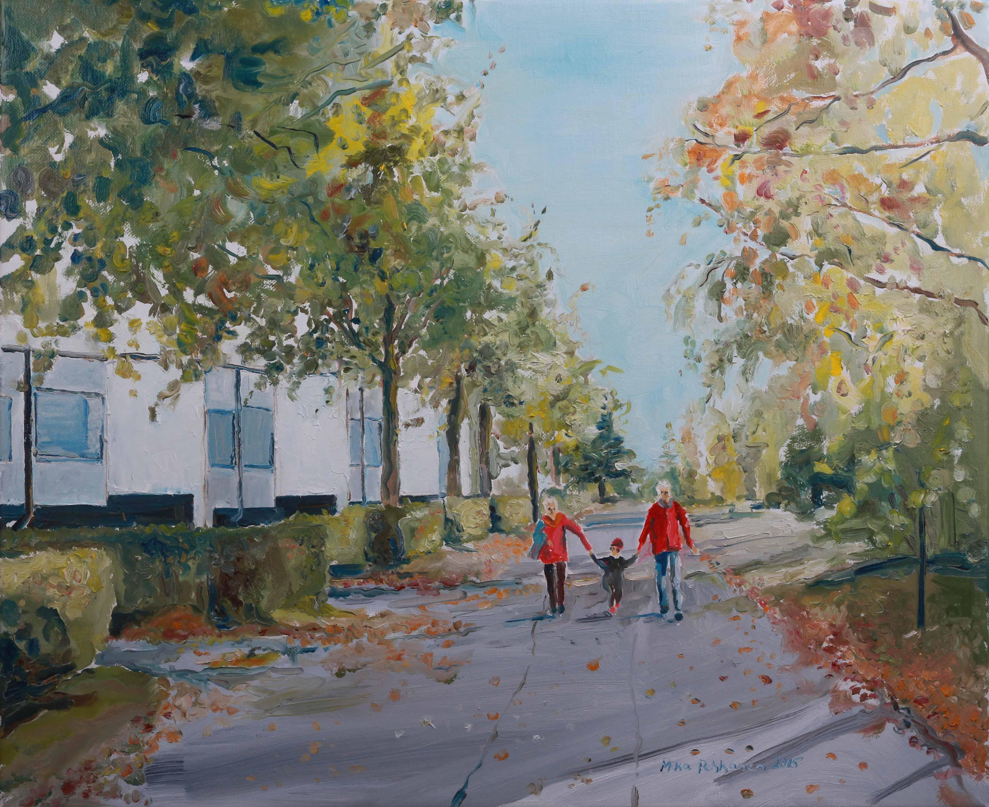 Mika Pekkasen dokumentaarisia maalauksia oli esillä Palokan kirjastossa Galleria Palkissa 3 – 28.11.2015