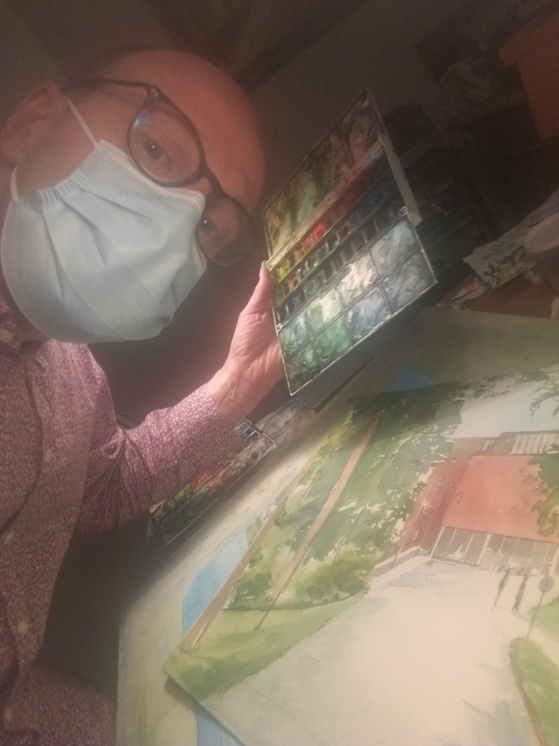 La.17.10.2020 klo.12-15. Live-maalaus ja syysmyyjäiset Taidekeskus Järvilinnassa. Maalaan sisällä maski päässä. Tervetuloa!