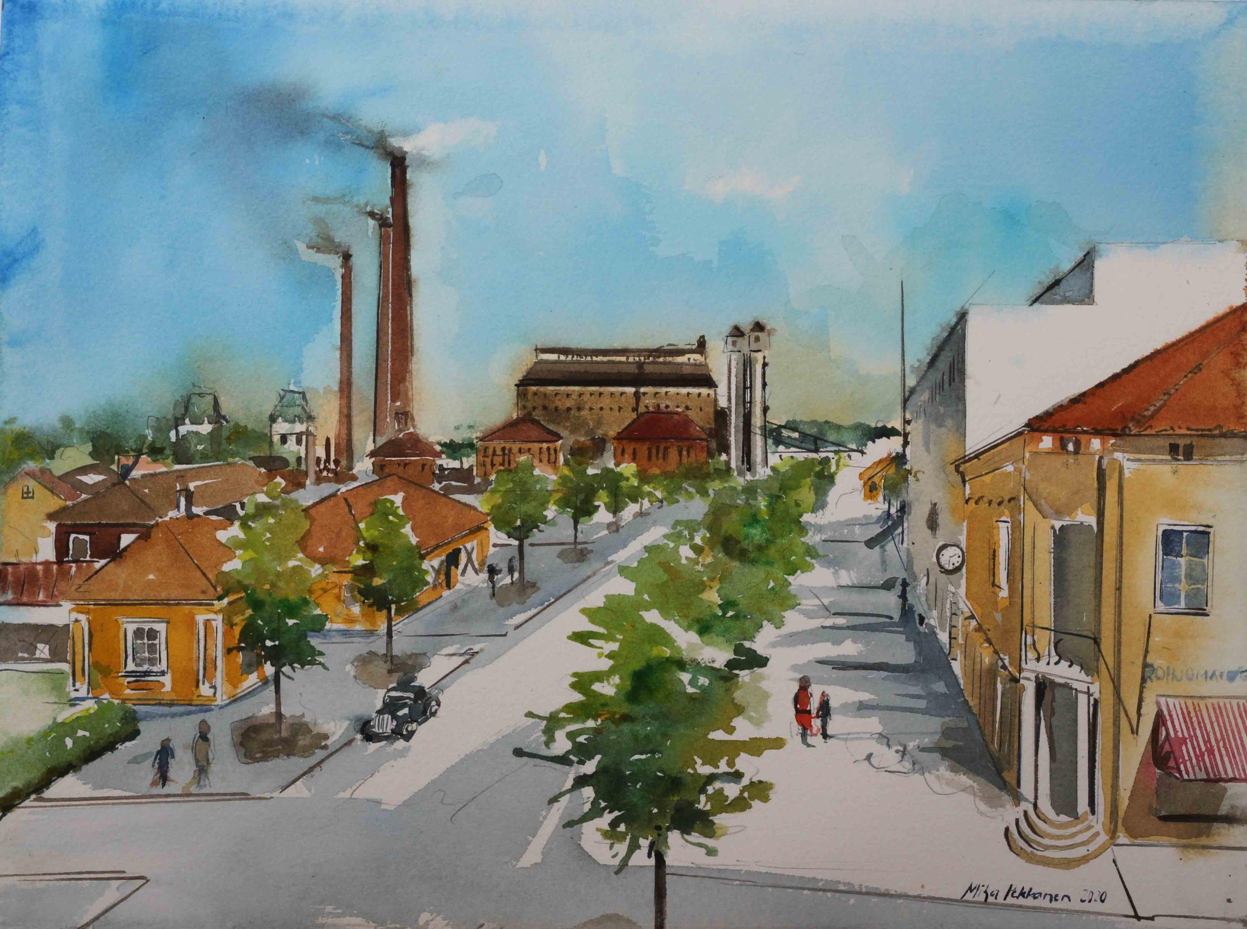Näyttely Varkauden Keskuskonttorilla jatkuu maaliskuun loppuun 2021! Täydennän näyttelyä uusimmilla teoksilla.