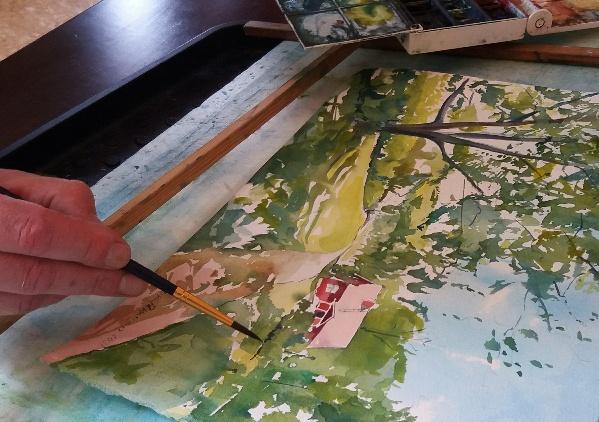 Teos Taidekeskus Järvilinnan pihapiiristä valmistumassa live-maalaus tapahtumassa 10.7. Kiva oli kohdata yleisöä!