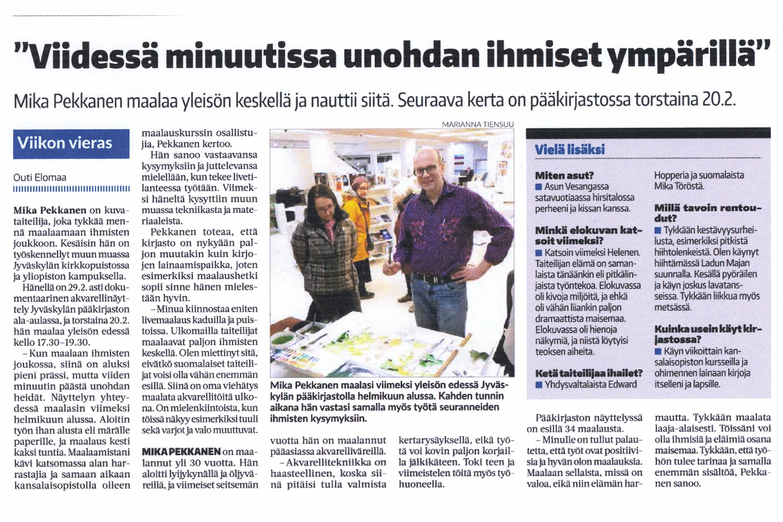Suur-jyväskylän Lehdessä viikon vieraana 19.2.2020
