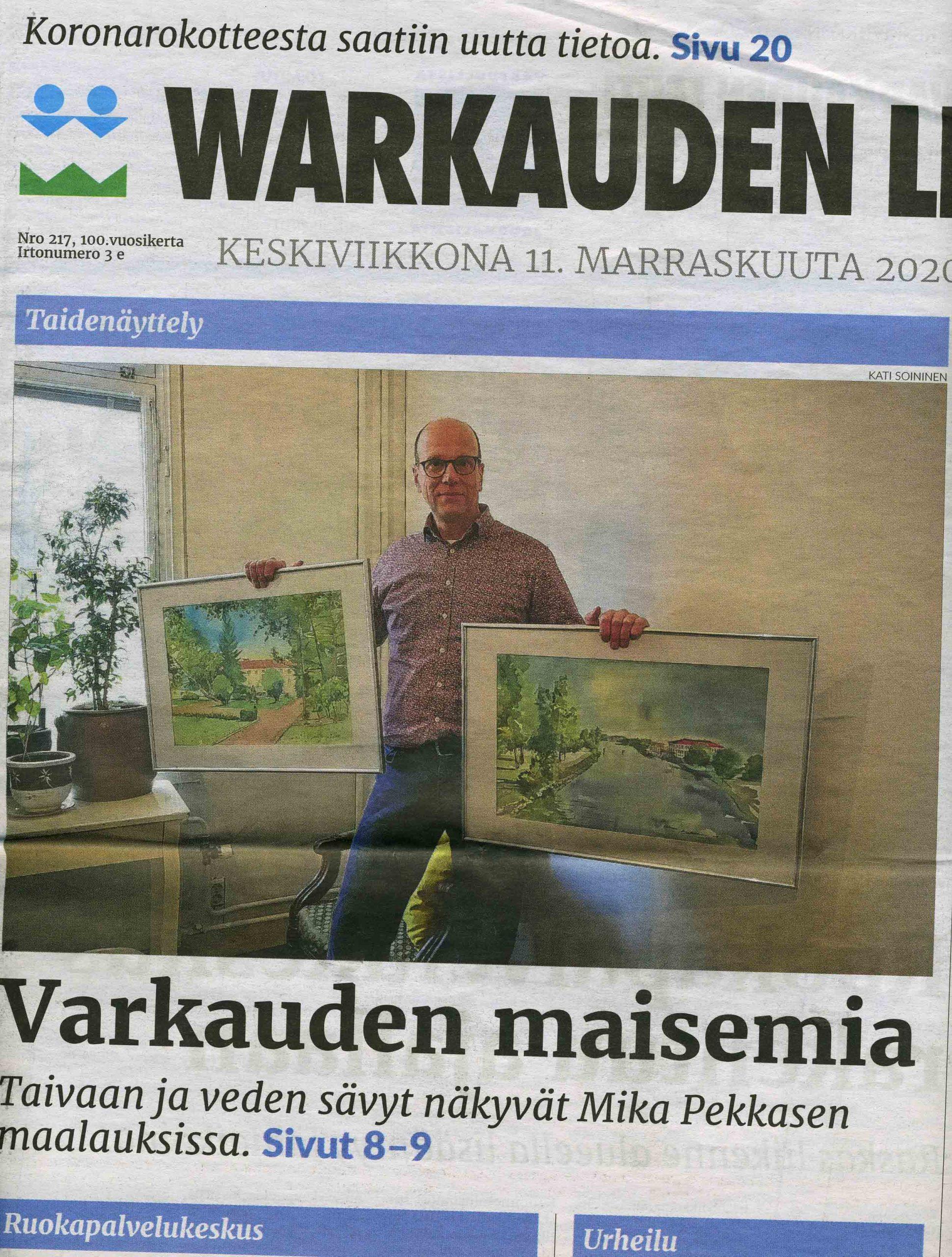 Warkauden lehti Mika Pekkanen Keskuskonttorilla (teksti ja kuvat Kati Soininen)