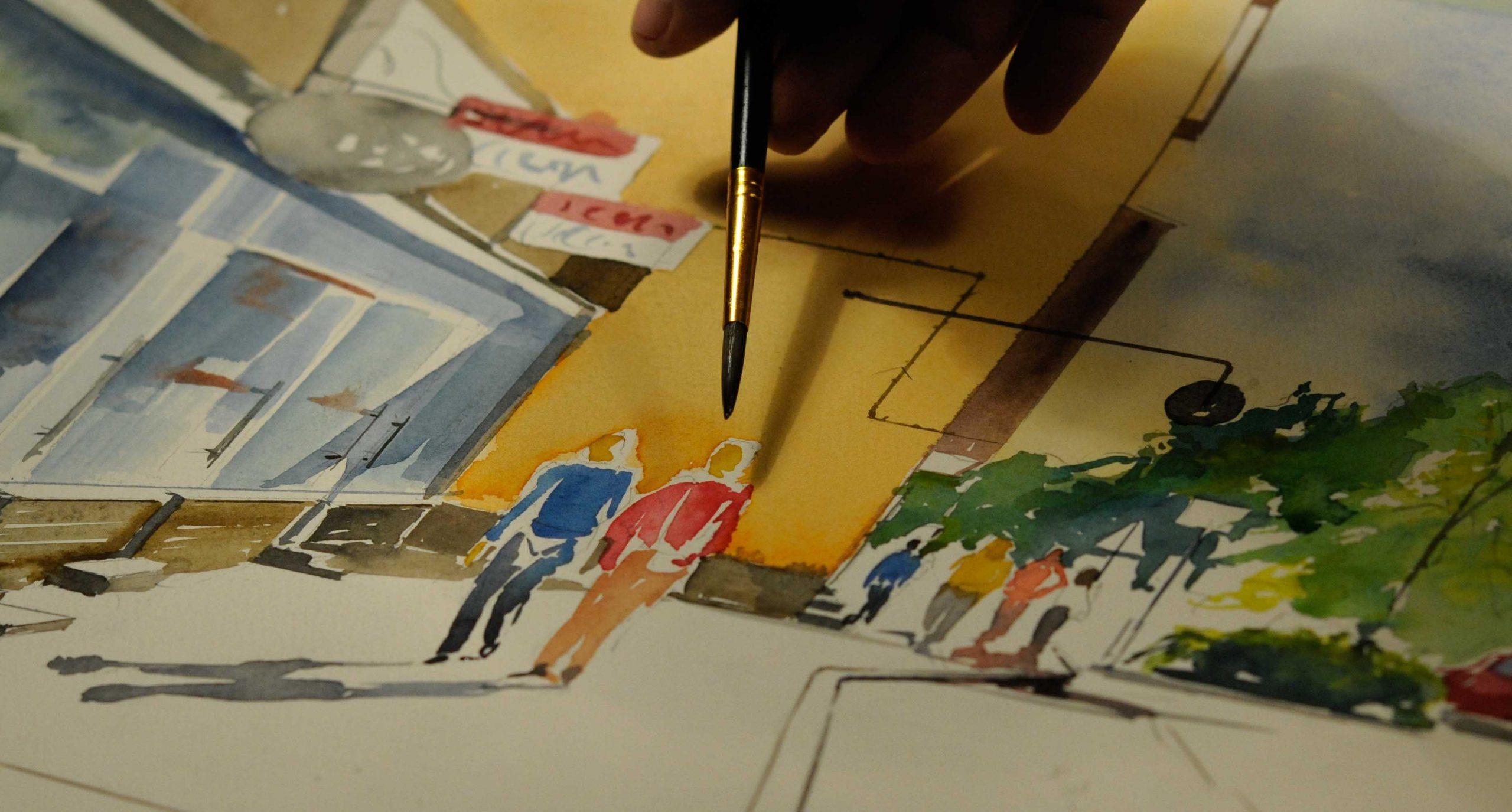 Maalaan akvarellia Harrin taide ja antiikki galleriassa Asemakatu 11 Jyväskylässä la. 8.5.2021 klo.12-15 Tervetuloa